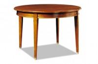 Table ronde directoire merisier avec allonge