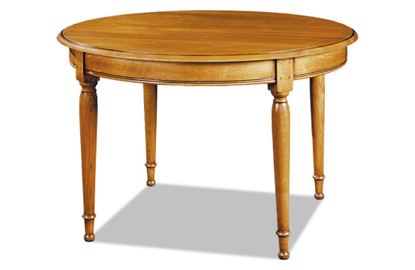 Table ronde louis philippe avec allonges meubles hummel for Table ronde chene avec rallonge