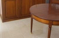 Table ronde Louis XVI avec allonges
