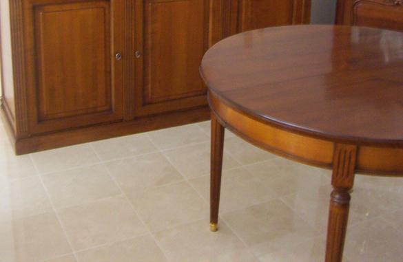 Table ronde louis xvi avec allonges meubles hummel - Tables rondes avec allonges ...