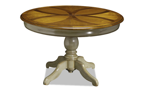 Table Ronde Pied Central Bicolore Copia Meubles Hummel
