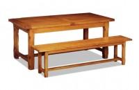 Table rustique en chêne massif avec allonges
