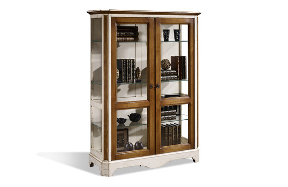 vitrine en merisier massif meubles hummel. Black Bedroom Furniture Sets. Home Design Ideas