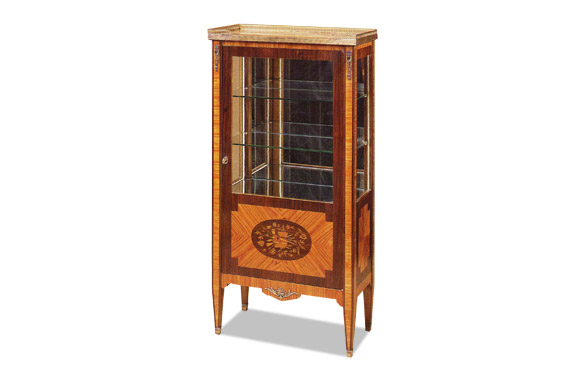 vitrine louis xvi bois de rose dessus marbre meubles hummel. Black Bedroom Furniture Sets. Home Design Ideas