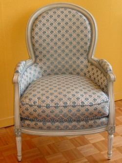 Chaise louis xvi m daillon cuir meubles hummel - Chaise medaillon cuir ...
