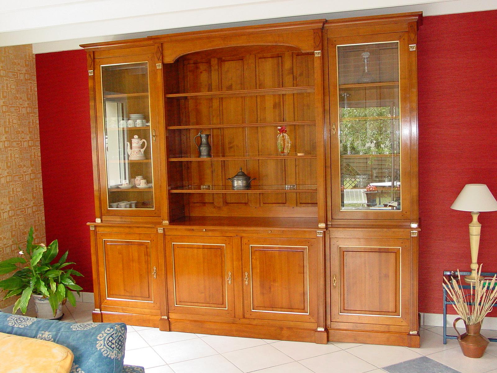 Biblioth Que Directoire Meubles Hummel # Bibliotheque Directoire Avec Etageres En Merisier