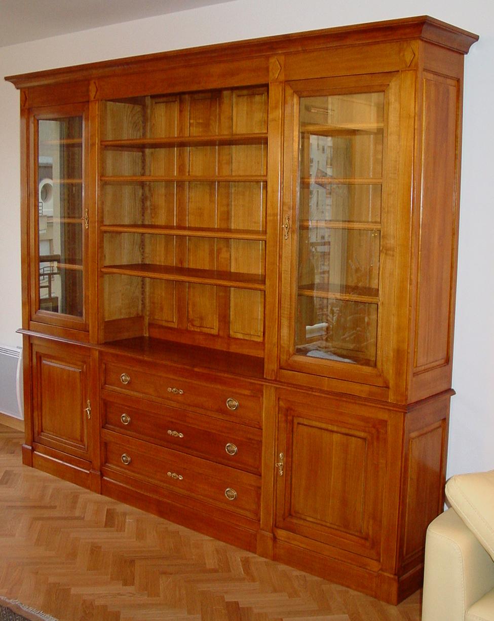 Biblioth Que Directoire Composable Meubles Hummel # Bibliotheque Directoire Avec Etageres En Merisier