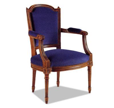 Fauteuil cabriolet Louis XVI tissu