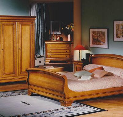 Chambre Louis Philippe en merisier ou chêne