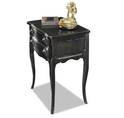 Chevet Louis XV laqué noir copia
