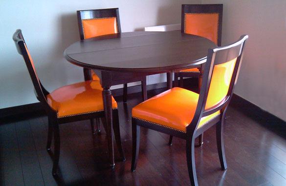 Table à volets en chêne wenge
