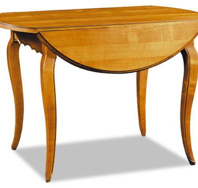 Table à volets en merisier style Louis XV