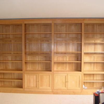 Bibliothèque composable en chêne massif