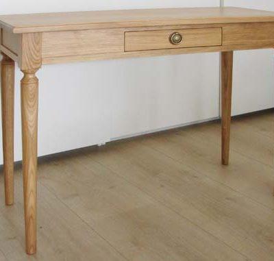Table console extensible en chêne