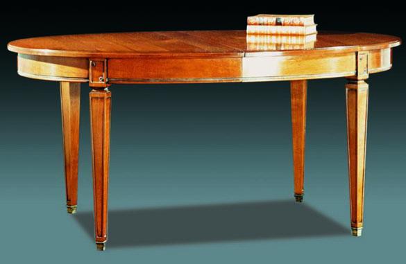 Table ovale directoire en merisier