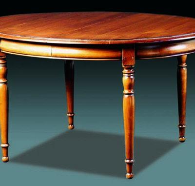 Table ovale en merisier massif