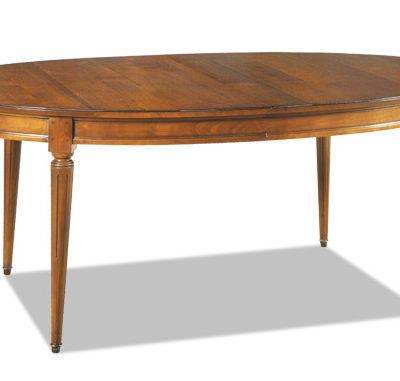 Table ovale en merisier massif style Louis XVI