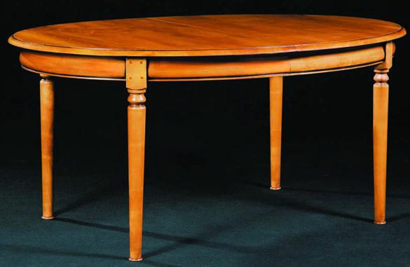Table ovale Louis Philippe en merisier massif