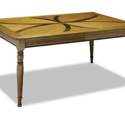 Table rectangulaire avec allonge