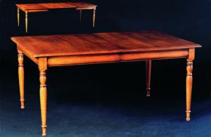 Table rectangulaire avec allonges