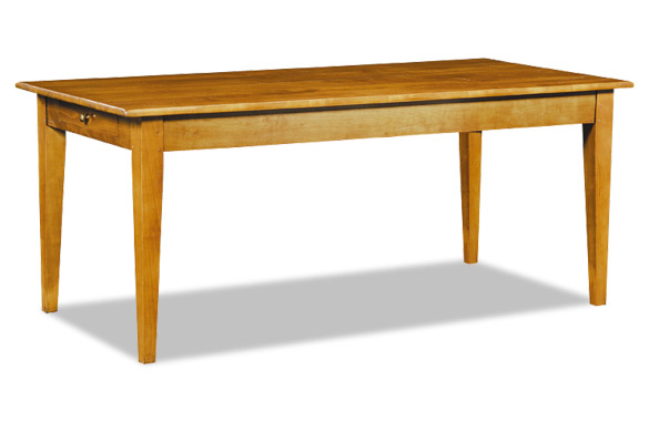 Table rectangulaire en chêne ou merisier