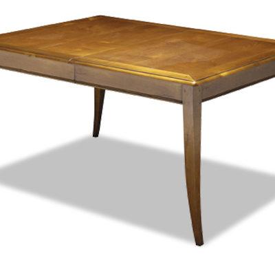 Table rectangulaire en merisier avec allonge