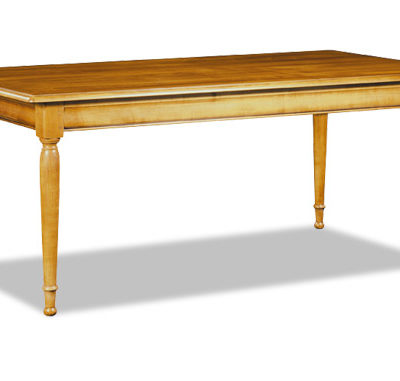 Table rectangulaire en merisier ou chêne