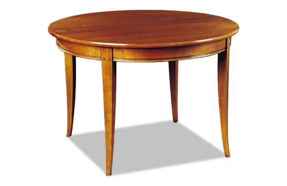 Table ronde en chêne ou merisier