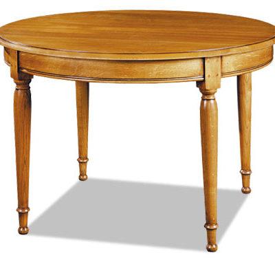Table ronde au style Louis Philippe en chêne