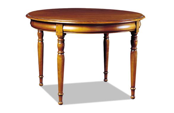 Table ronde en merisier ou chêne